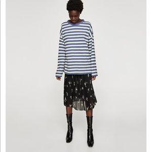 Striped Blue and white Sweatshirt,  NWT